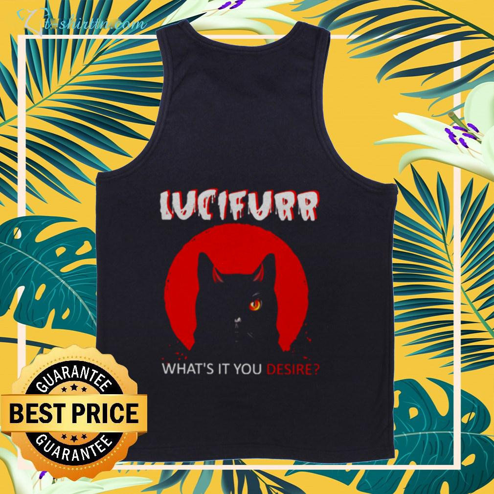 Cat Lucifer what's it You desire Halloween tanktop