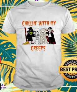 Chillin Creeps Vampire Witch Halloween t-shirt