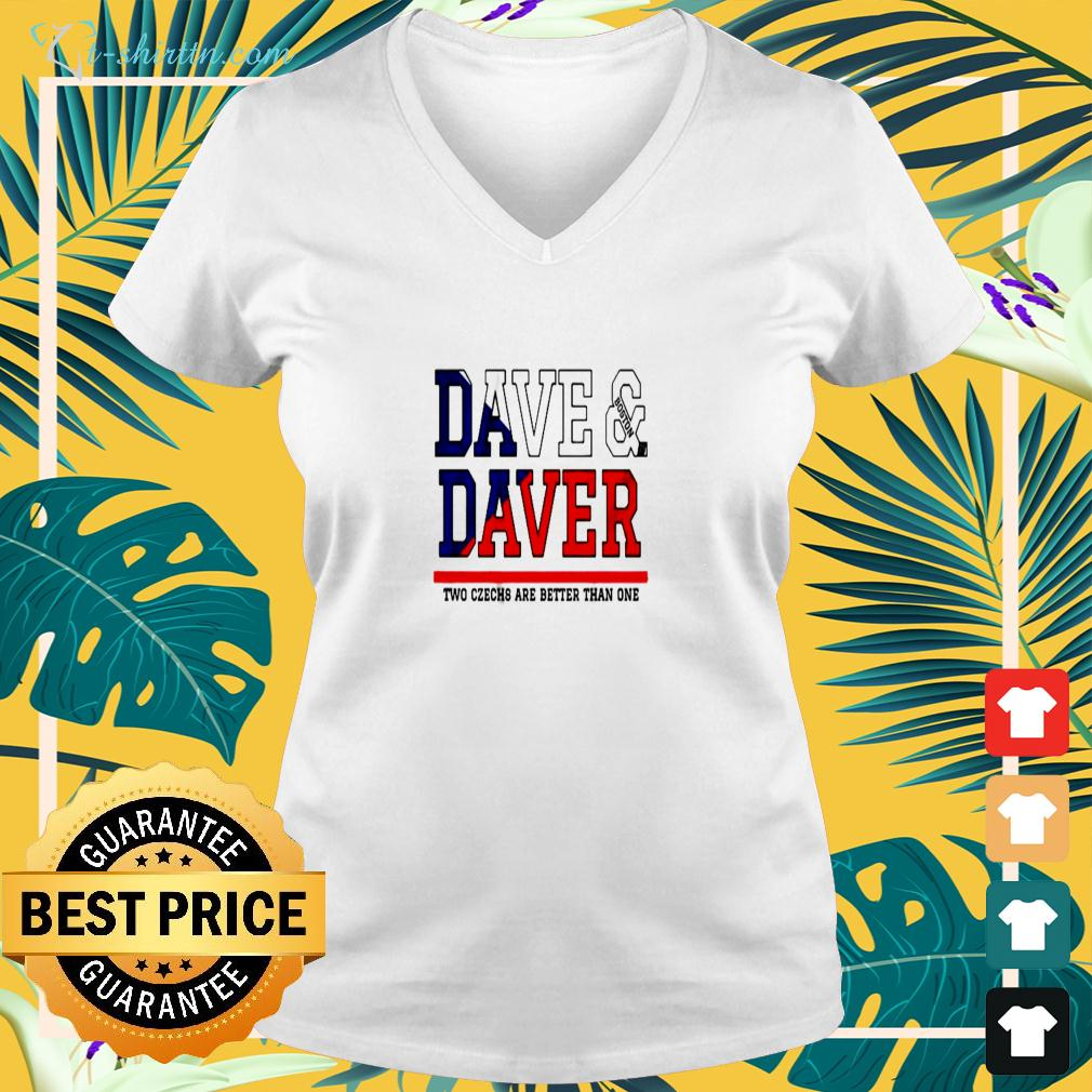 Dave Boston Daver two czechs are better than one v-neck t-shirt