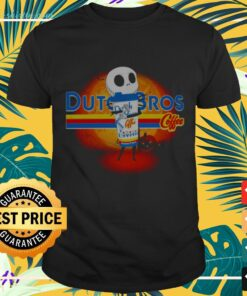 Halloween baby Jack Skellington hug Dutch Bros Coffee t-shirt