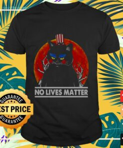 Halloween Captain black cat no lives matter t-shirt