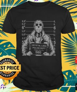 Halloween Jason Voorhees crystal lake police dept Friday the 13th 1980 t-shirt