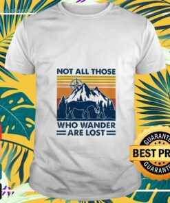Horse not all those who wander are lost vintage t-shirt