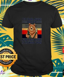 I go scuba diving because punching people is frowned ipon bear vintage t-shirt