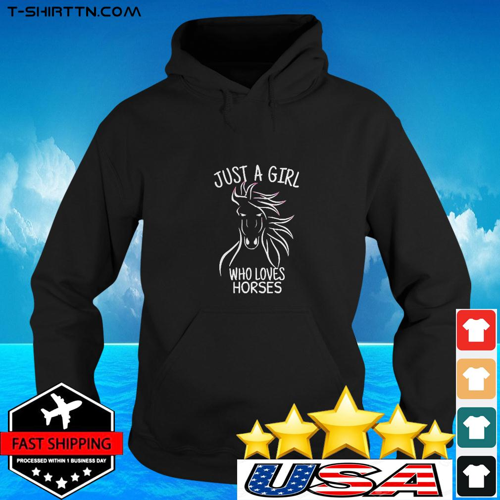 Just A Girl Who Loves Horses Cowgirl Horse Girl Ri hoodie
