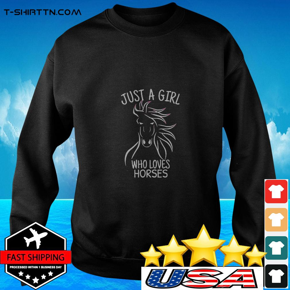 Just A Girl Who Loves Horses Cowgirl Horse Girl Ri sweater