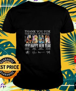 Abba Happy New Year 40 years 1980 2020 thank you for your Music and the memories signatures t-shirt