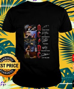 ACDC angus young brian johnson phil rudd malcolm young t-shirt