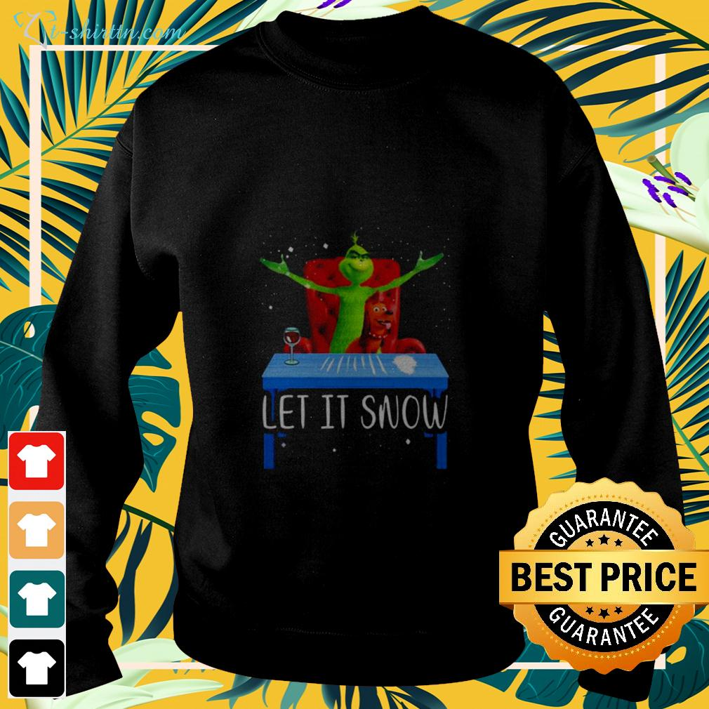 Grinch And Max let it snow sweater