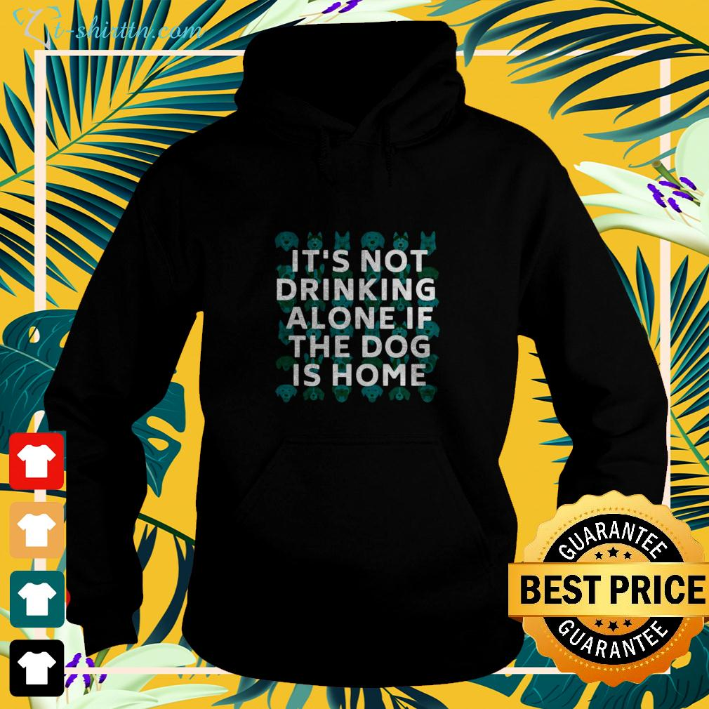 It's not drinking alone if the dog is home hoodie