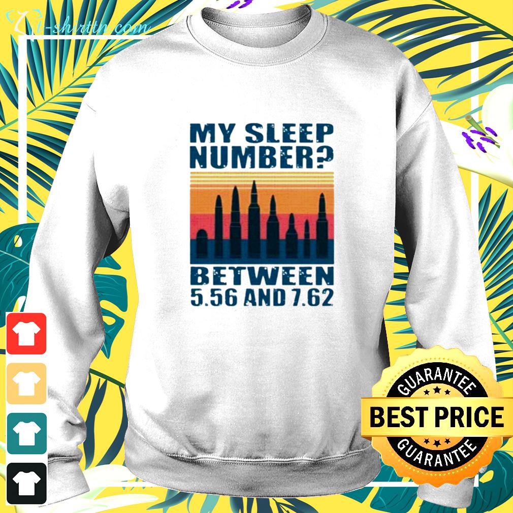 My sleep number between 5.56 and 7.62 sweater