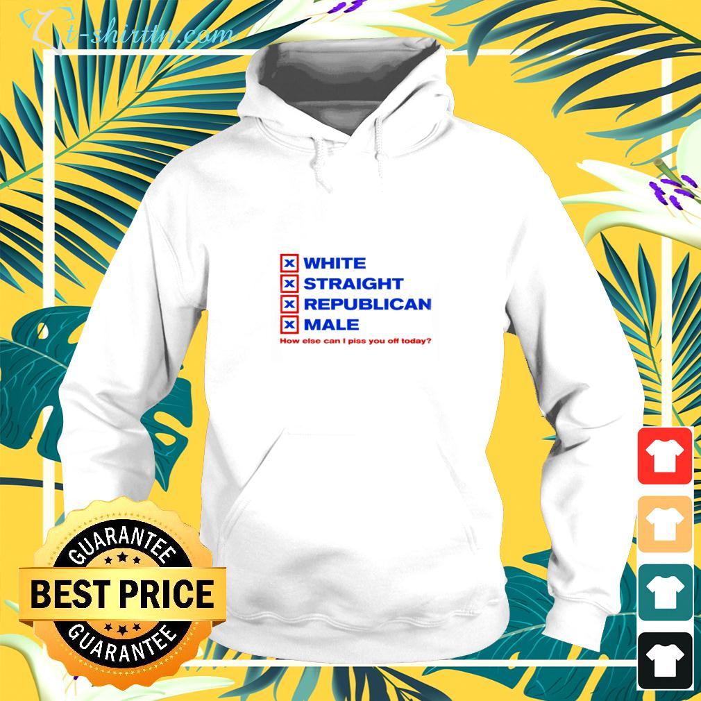 White straight republican male how else can I piss you off today hoodie