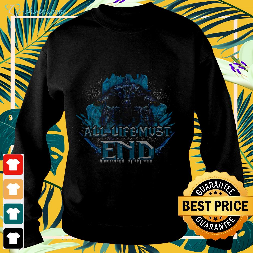 Wrath of the Lich King all life must end sweater