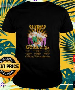 08 Years 2013-2021 the Goldbergs signature thank you for the memories t-shirt