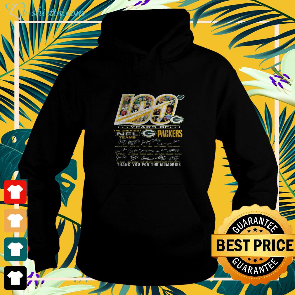 100 years of the greatest NFL teams Green Bay Packers thank you for the memories hoodie