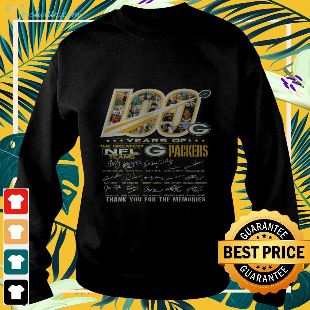 100 years of the greatest NFL teams Green Bay Packers thank you for the memories sweater