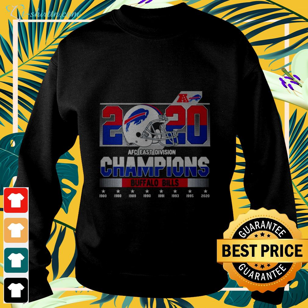 2020 AFC east division Champions Buffalo Bills 1980-2020 sweater
