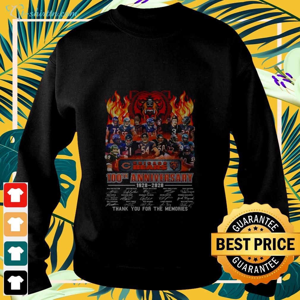 2020 Chicago Bears 100th anniversary 1920-2020 thank you for the memories sweater