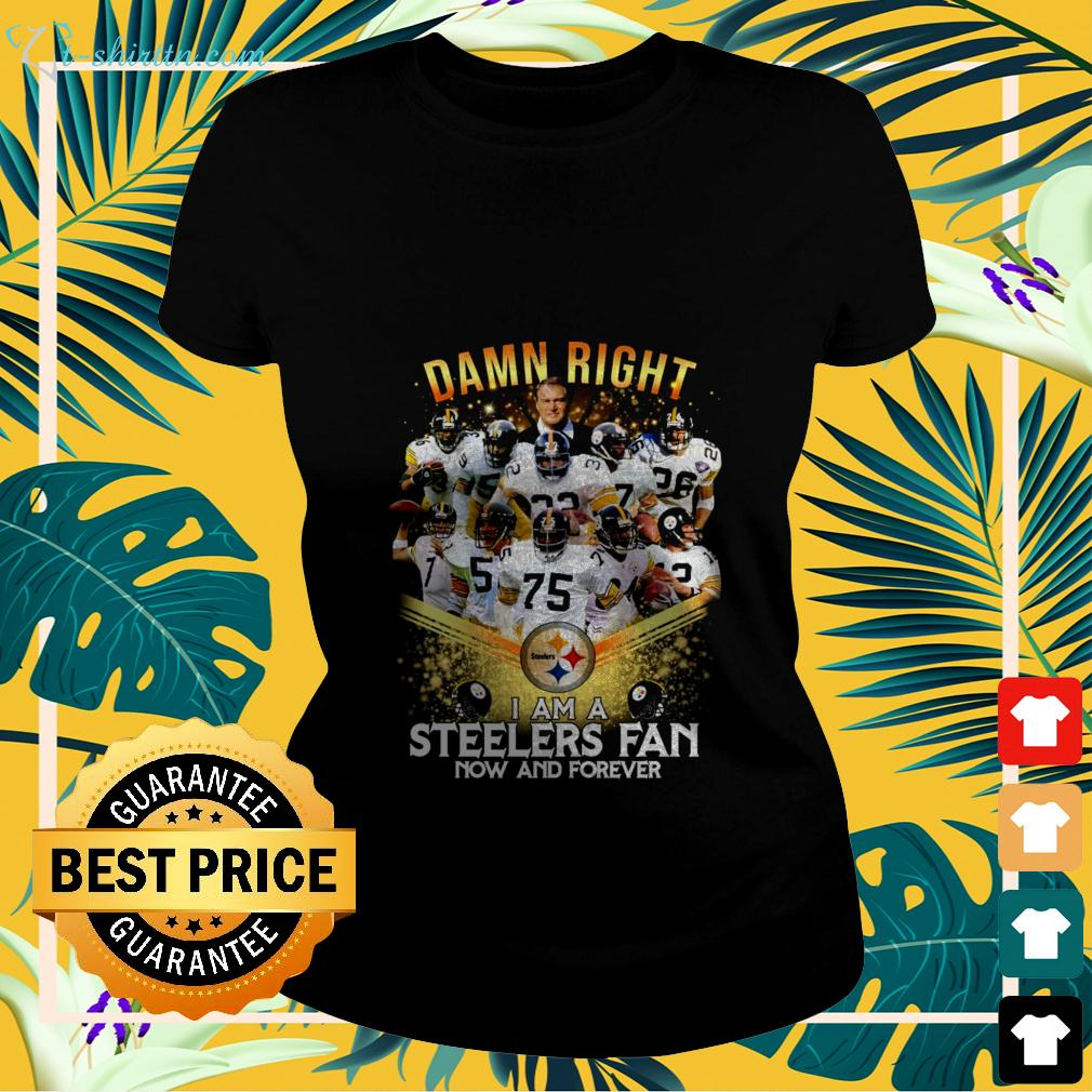 2020 damn right I am a Steelers fan now and forever ladies-tee