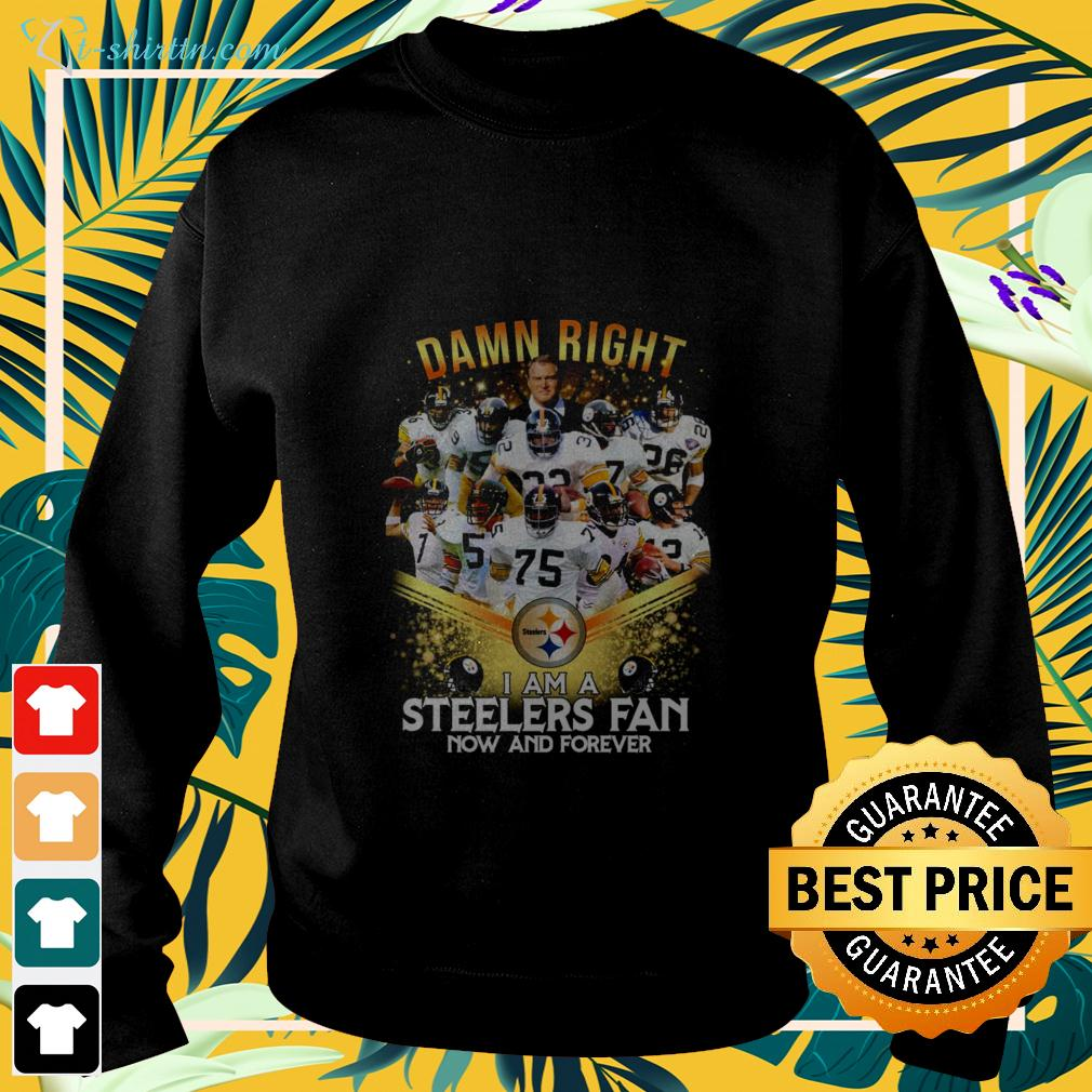 2020 damn right I am a Steelers fan now and forever sweater