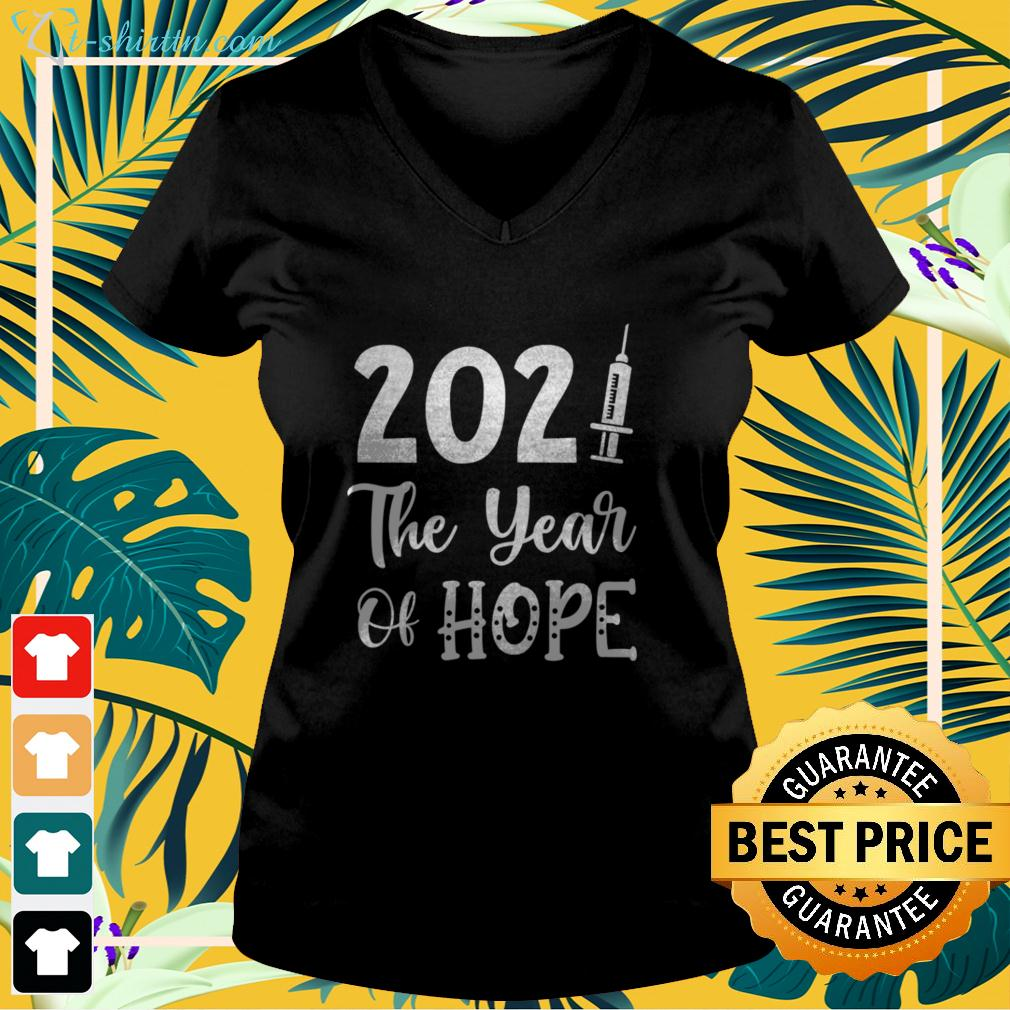 2021 the year of hope v-neck t-shirt