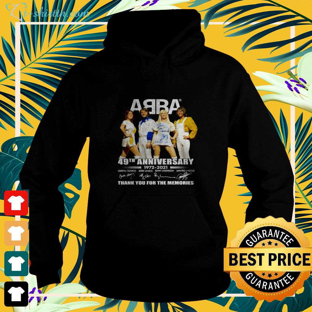 ABBA 49th anniversary 1972-2021 thank you for the memories hoodie