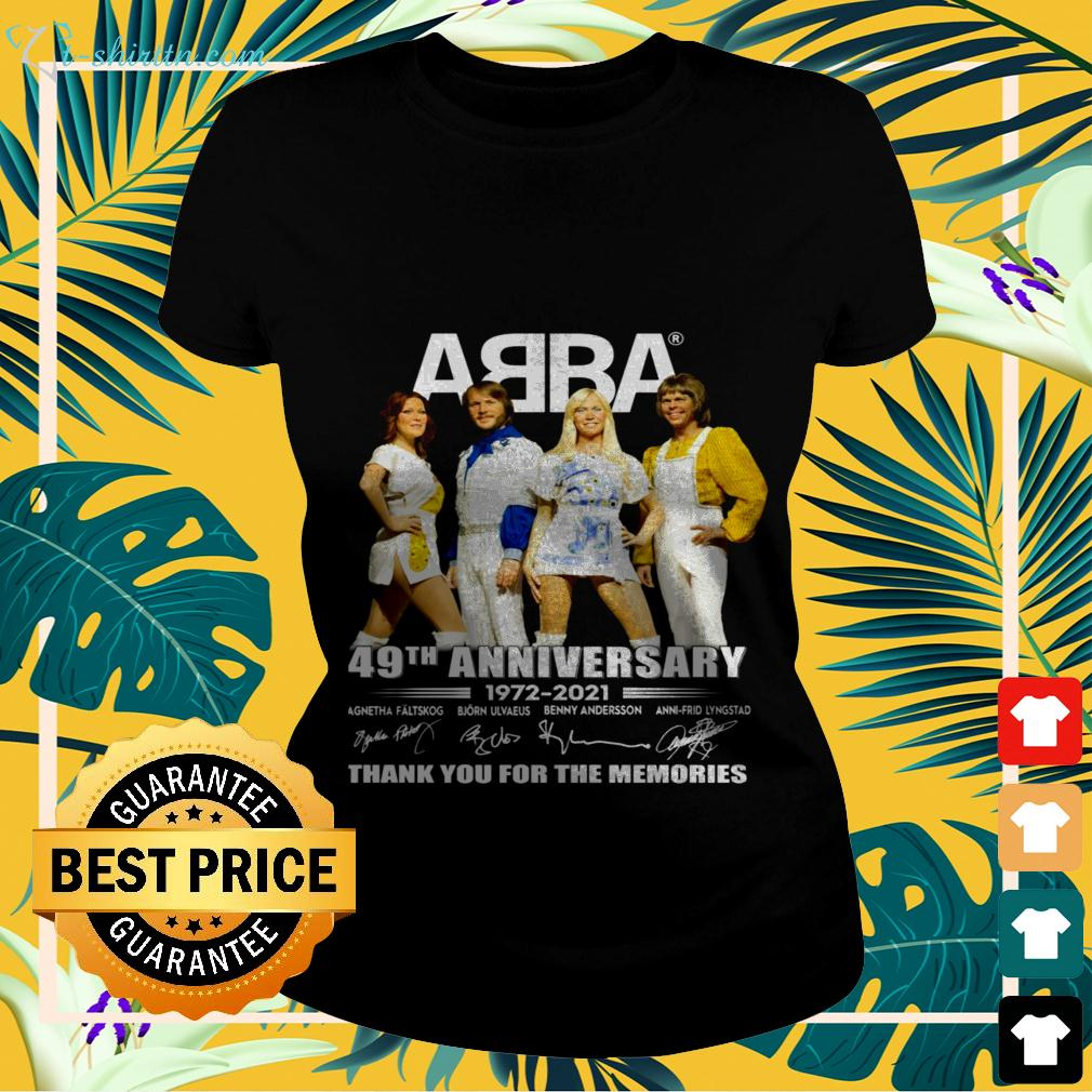 ABBA 49th anniversary 1972-2021 thank you for the memories ladies-tee