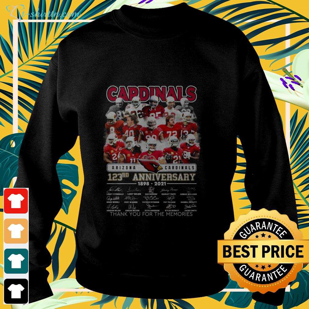 Arizona Cardinals 123rd anniversary 1898-2021 thank you for the memories sweater