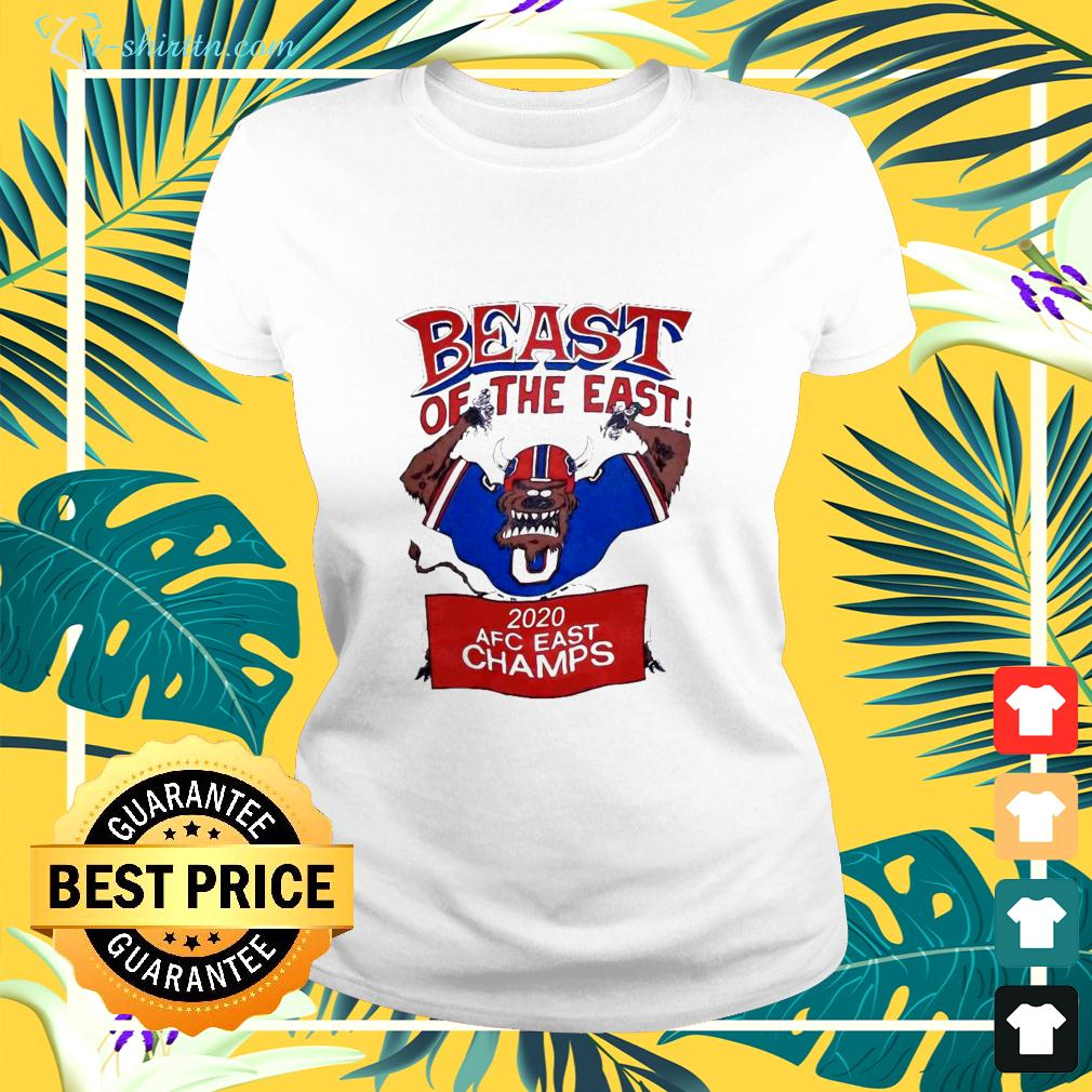 Beast Of The East 2020 AFC East Champs ladies-tee