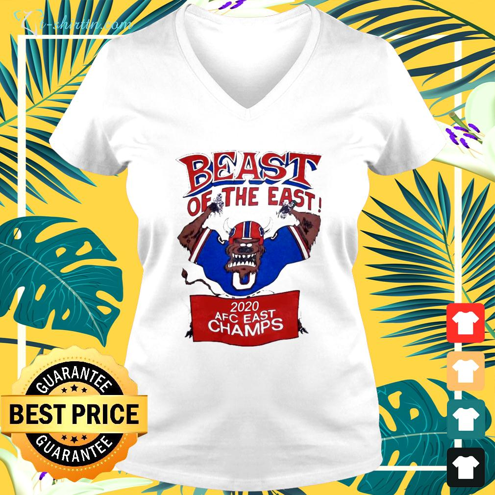 Beast Of The East 2020 AFC East Champs v-neck t-shirt