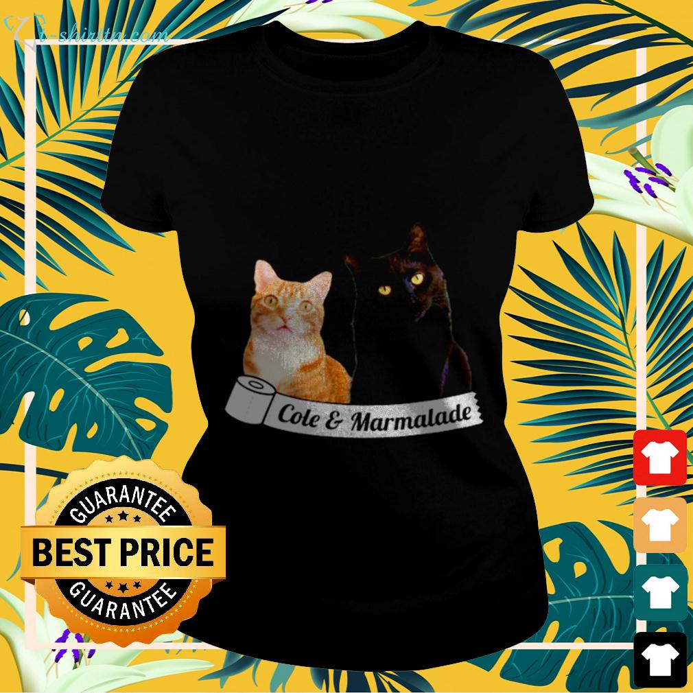 Cole and Marmalade cat ladies-tee