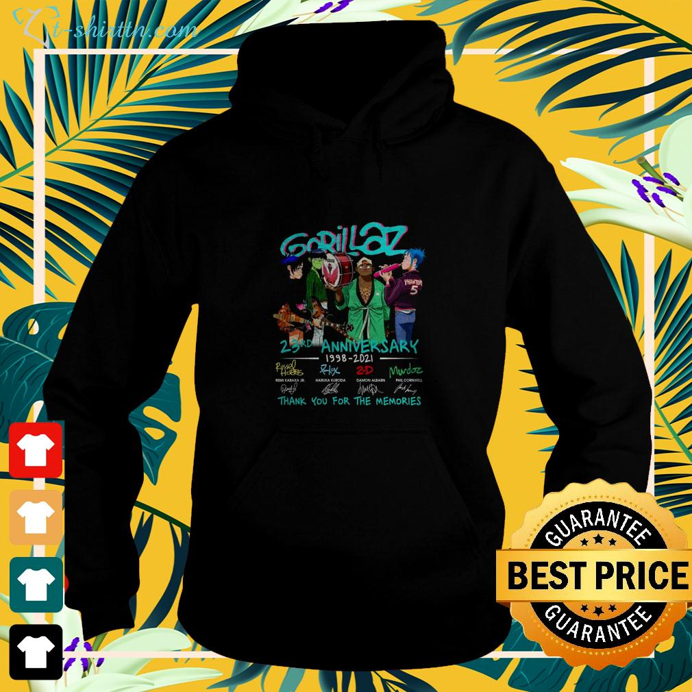 Gorillaz 23rd anniversary 1998-2021 thank you for the memories hoodie