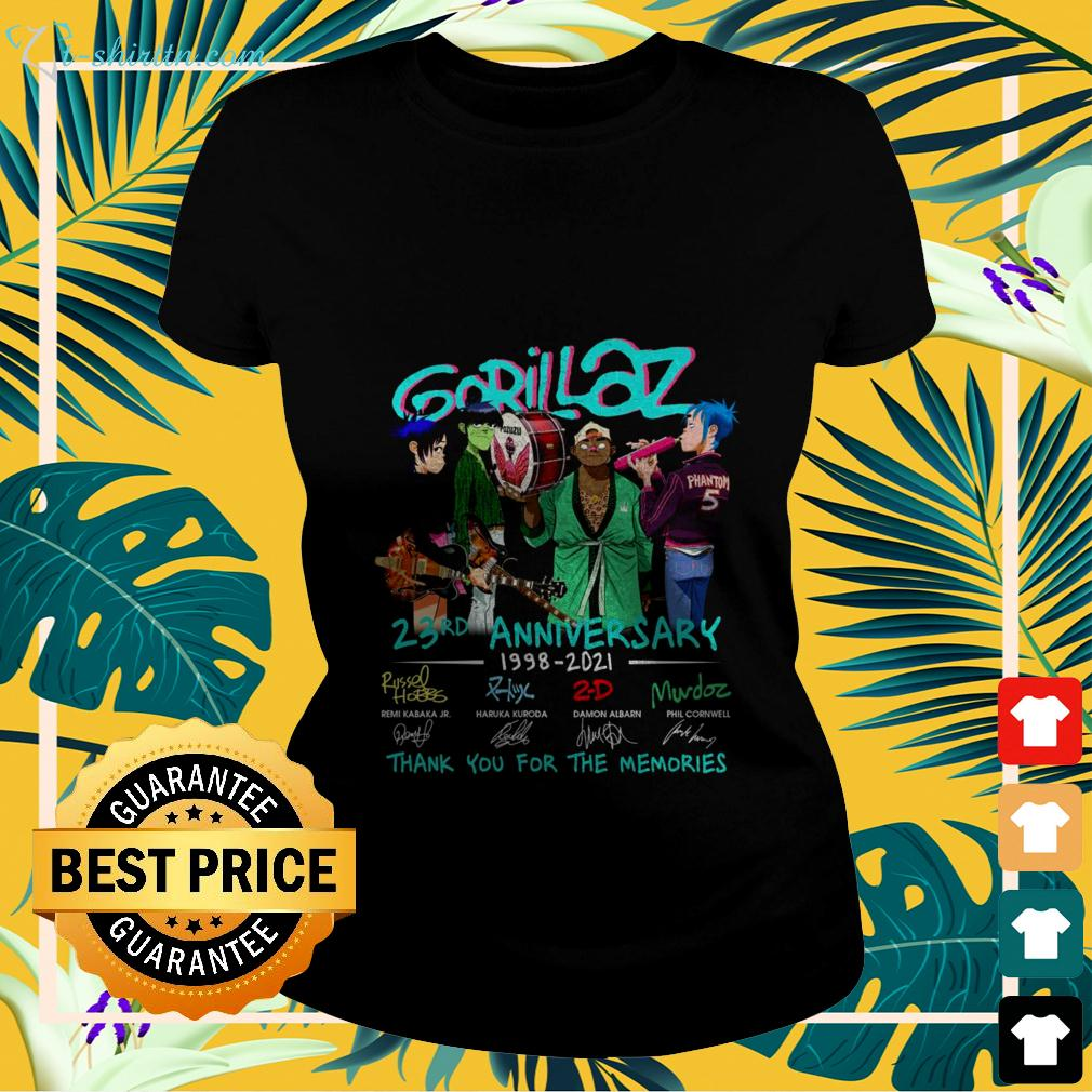 Gorillaz 23rd anniversary 1998-2021 thank you for the memories ladies-tee