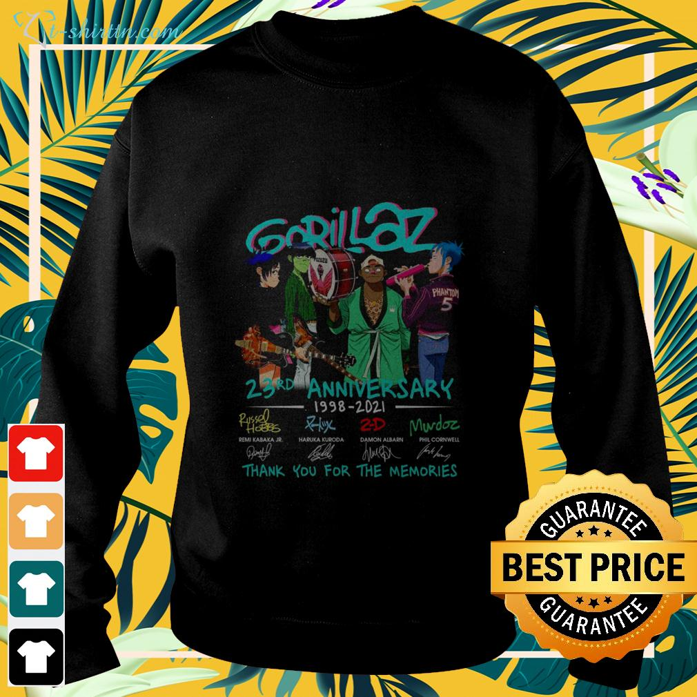 Gorillaz 23rd anniversary 1998-2021 thank you for the memories sweater