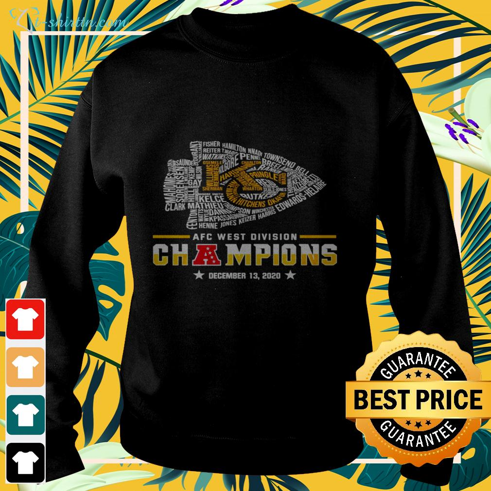 Kansas City Chiefs AFC west division champions december 13 2020 sweater
