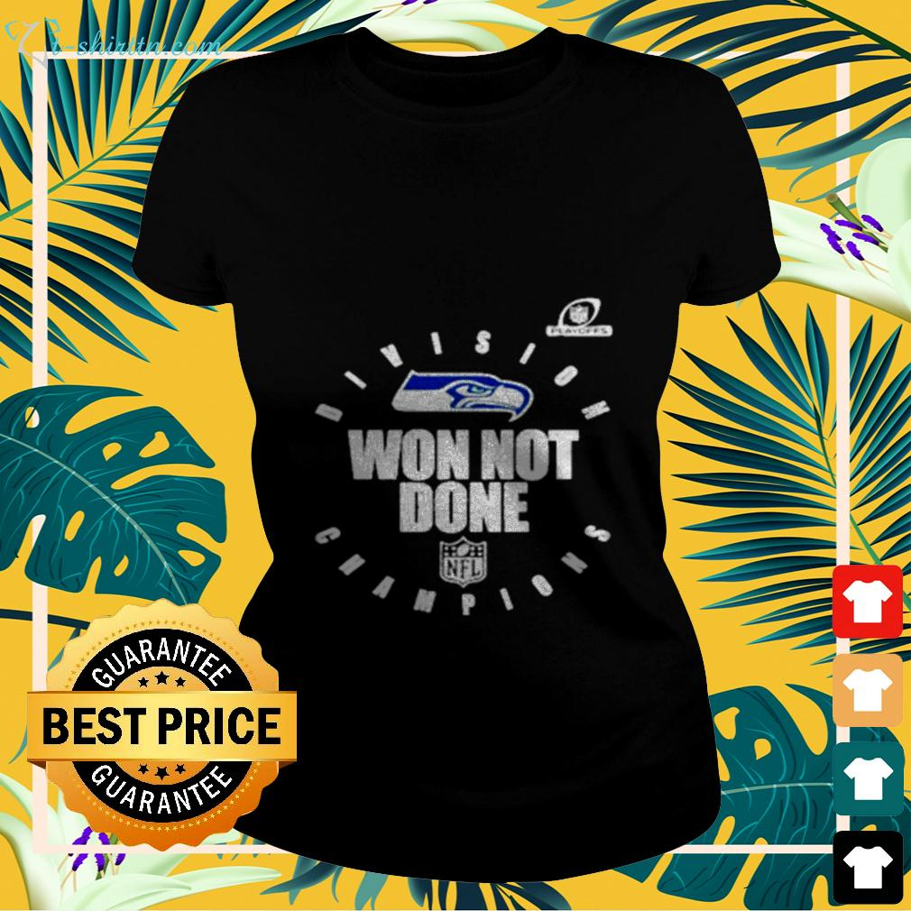 NFL Playoffs 2020 Won Not Done Division Champions Seattle Seahawks ladies-tee