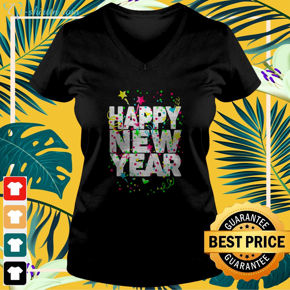 Offical Happy New Year v-neck t-shirt