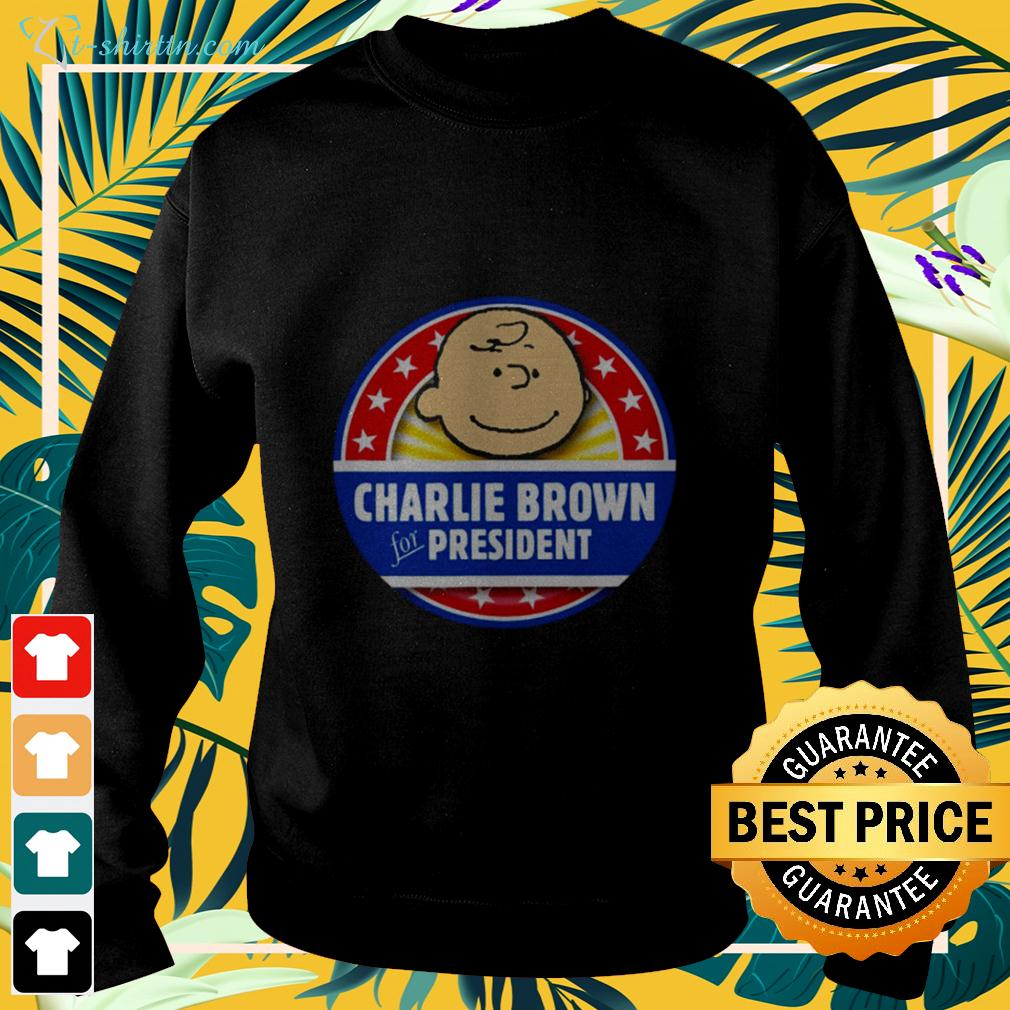 Peanut Charlie Brown For President sweater