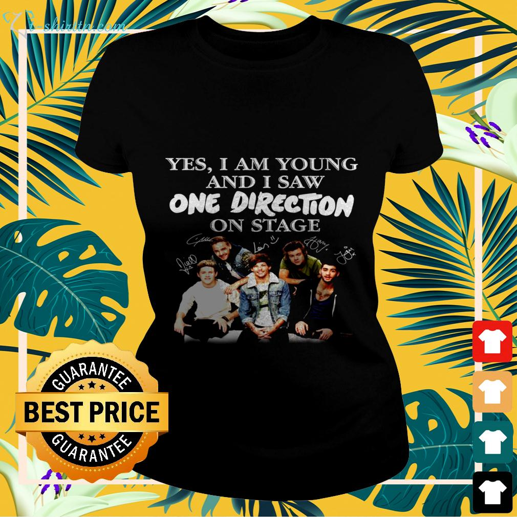 Yes I am old but I saw One Direction on stage signatures ladies-tee