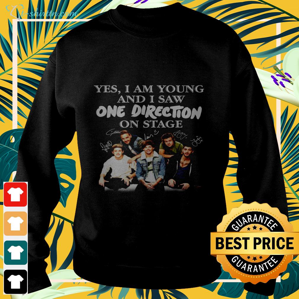 Yes I am old but I saw One Direction on stage signatures sweater