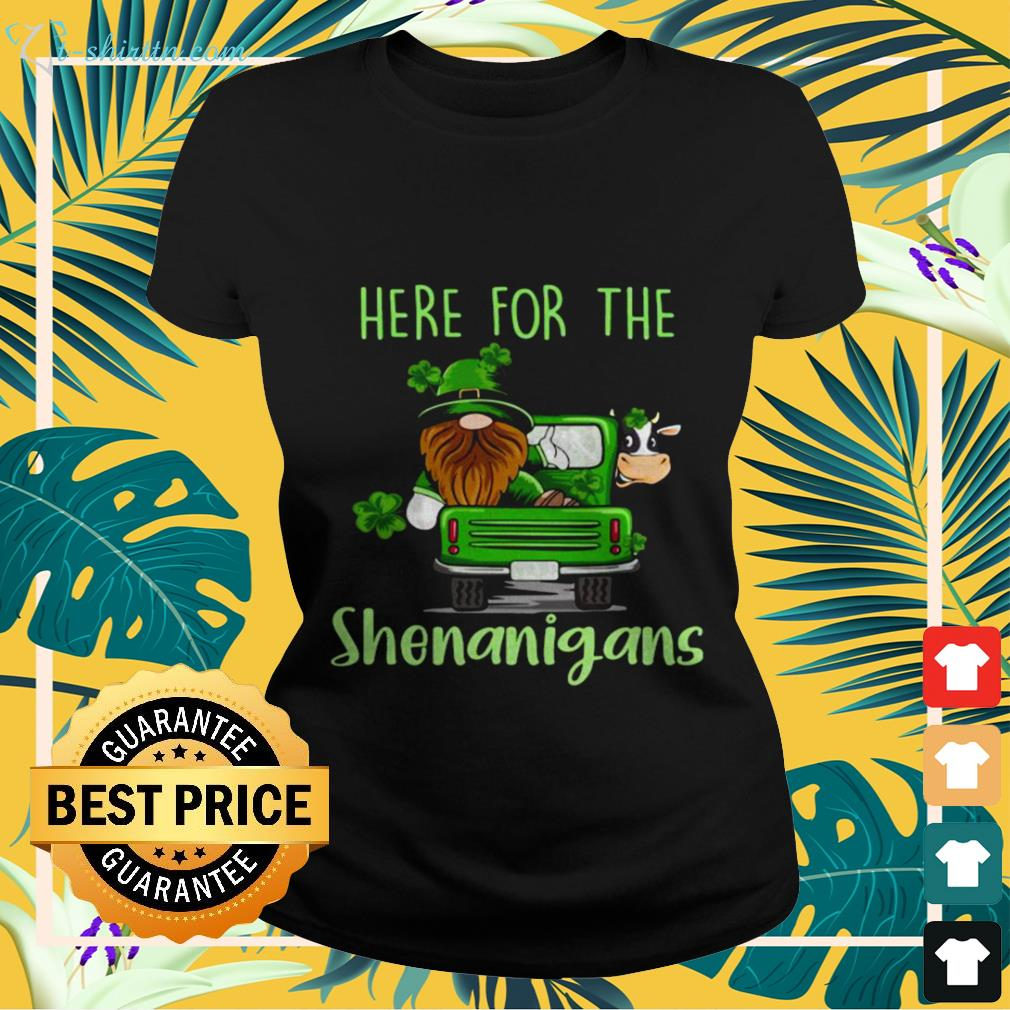 ladies-tee-5 Gnome here for the Shenanigans St Patrick's Day shirt