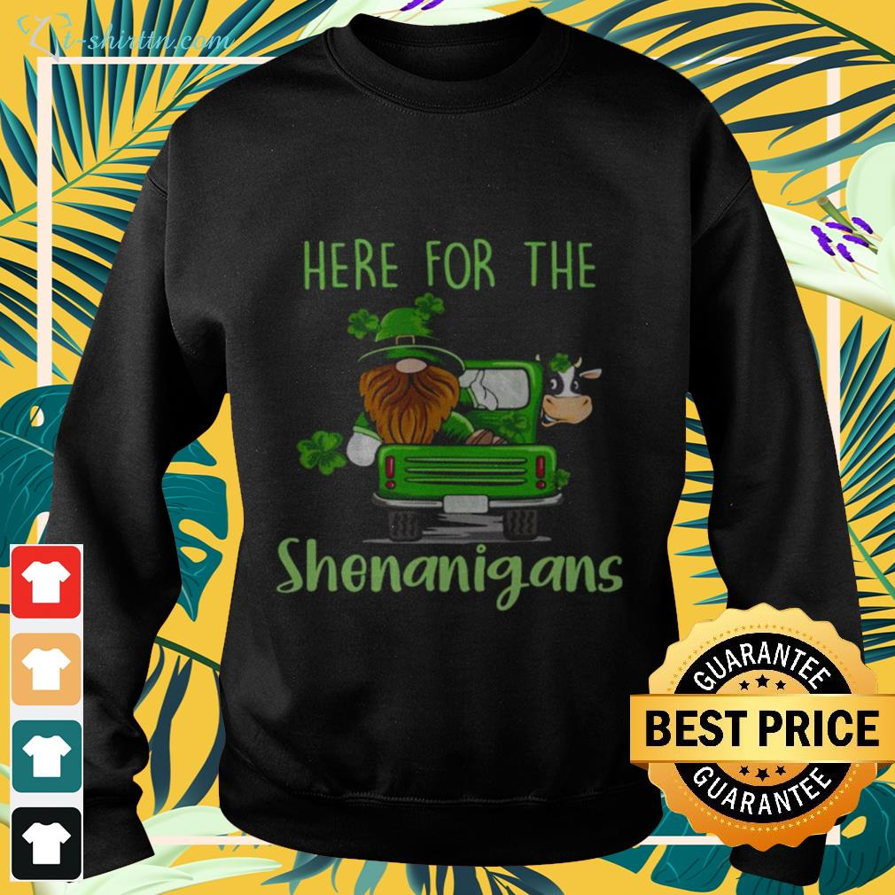 sweater-5 Gnome here for the Shenanigans St Patrick's Day shirt
