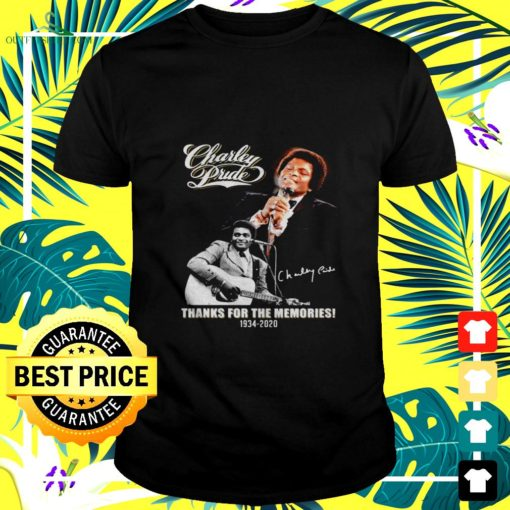 charley pride thanks for the memories 1934 2020 signature t shirt