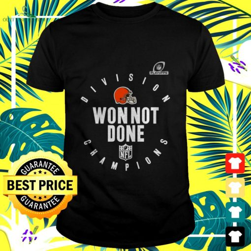 cleveland browns nfl playoffs division champions won not done t shirt