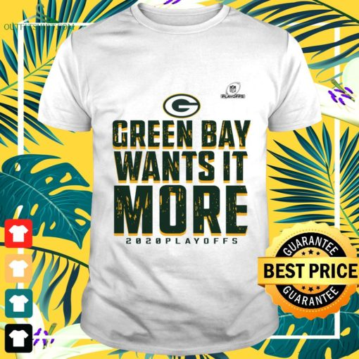 green bay packers wants it more 2020 playoffs t shirt