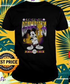 Los Angeles Lakers 2020 NBA Finals Champions Mickey Trophy t-shirt
