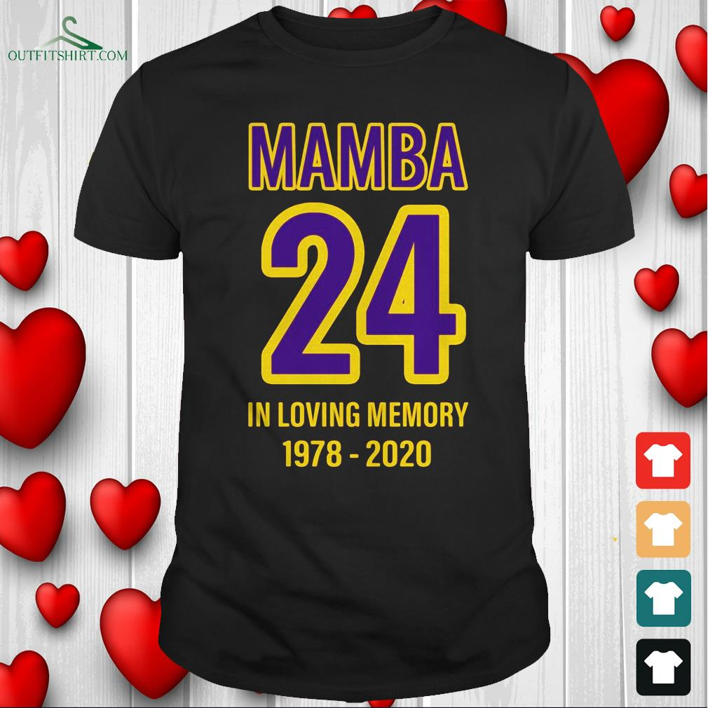 mamba-24-in-loving-memory-kobe-1978-2020-t-shirt The best shop for printing t-shirts for men and women
