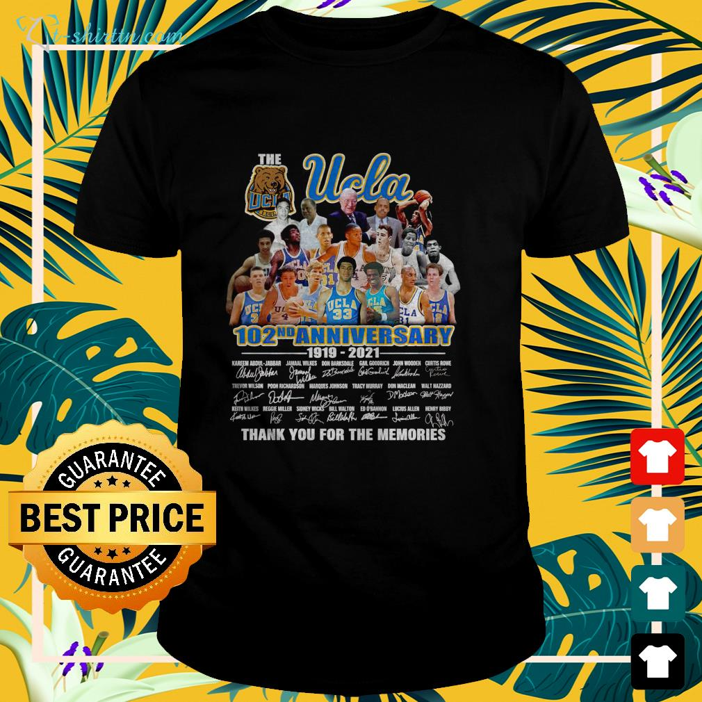 The UCLA Bruins 120nd anniversary 1919 2021 thank you for the memories t-shirt