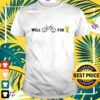 will bike for beer t shirt