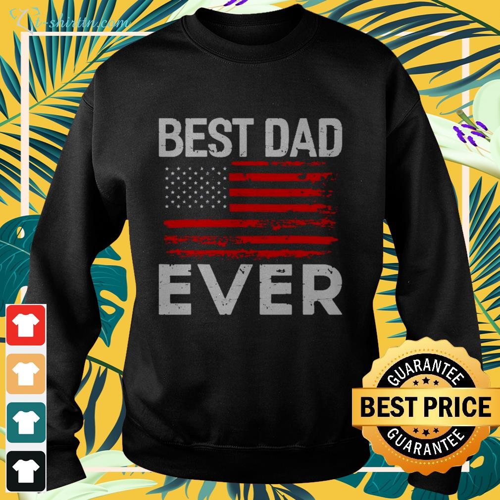 Best dad ever with us American flag sweater